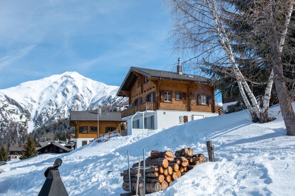 Chalet Adlerhorst Rosswald im Winter