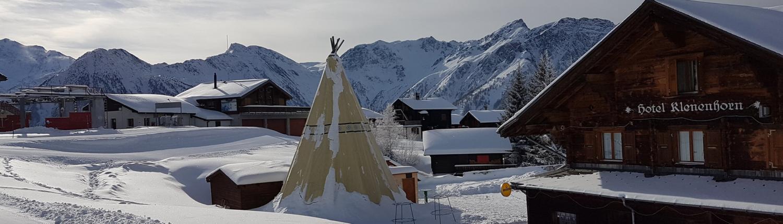 Berghotel Klenenhorn im Winter geschlossen