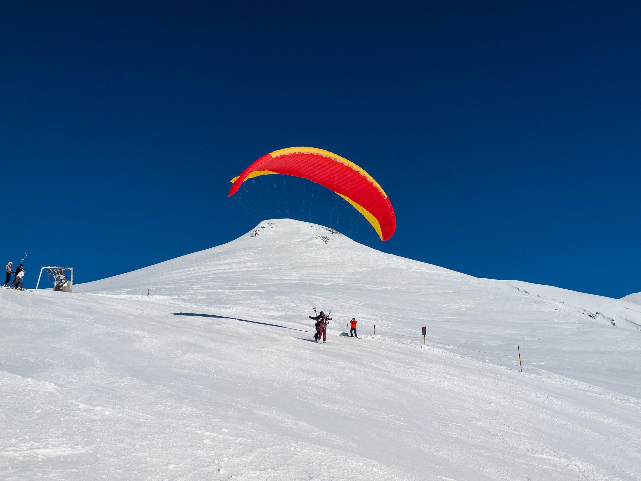 Rosswald Gleitschirmfliegen in Winter ein Erlebnis