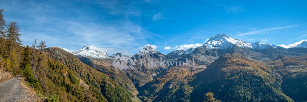 Herbstpanorama Bortel-, Furggubäum- und Wasenhorn