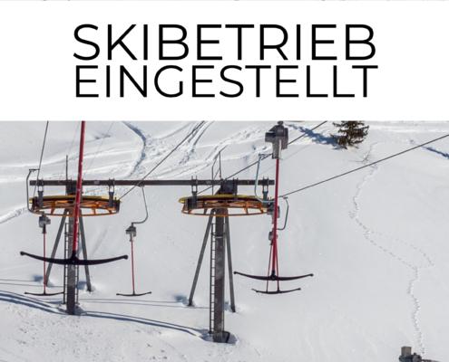 Skibetrieb eingestellt